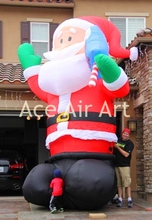 Christmas party decoration inflatable Santa Claus with ice lolly