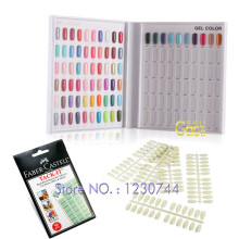 Beauty Nail Salon Tool 120 Blanks Nail Art Color Chart Book + 120pcs False Nail Tips + Removable Adhesive Plasticine Nail Kit