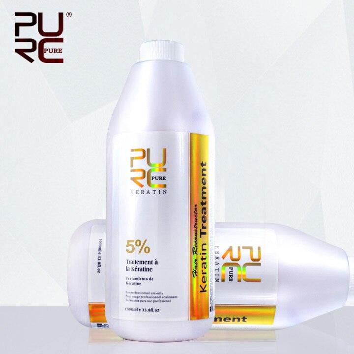 Brazilian keratin hair treatment formalin 5% 1000ml Hot sale hair straightener for hair mask and hair care free shipping<br>