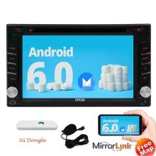 3g Android 6.0 Car Stereo 2 Din In Dash 3g GPS Navigation Radio Touch Screen Vehicle 3g DVD Player with Bluetooth WiFi 3G Dongle