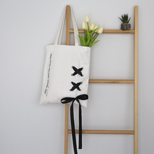YILE Cotton Canvas Eco Shopping Tote Shoulder Bag Air Hole Velvet Ribbon ZT718c(China)