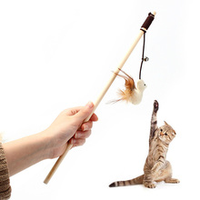 Hot Sale Creative Cat Teaser Toys Interactive Pet Kitten Toys Dangler Wand With Bells Cute Elastic Rods Plaything
