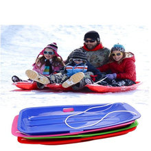 Kids Adult Extending Sandboarding Plate Skiing Boards Ski Pad Snow board Thicking Skis Grass Skiing Car Ice Sledge with Rope(China)