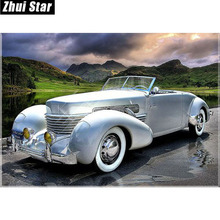 "Full Square Diamond 5D DIY Diamond Painting ""Sports car"" Embroidery Cross Stitch Rhinestone Mosaic Painting Decor"