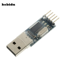 kebidu programmer promotions PL2303 USB To RS232 TTL Converter Adapter Module For Arduino CAR Detection GPS upgrade board(China)