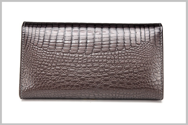 VICKAWEB Genuine Leather Small Wallet Women Wallets Alligator Short Purse Coins Hasp Girls Wallet Fashion Female Ladies Wallets-016