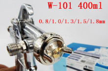 Japan W-101 gun HVLP manual spray gun gravity 0.8 / 1.0 / 1.3 / 1.5 / 1.8mm 400ml furniture automatic painting, car spray gun(China)