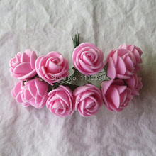 Artificial Roses Flowers Bouquets,Floral PE Foam Roses Boutonniere For DIY Flower Arrangements,Wedding Decoration,Kissing Balls(China)