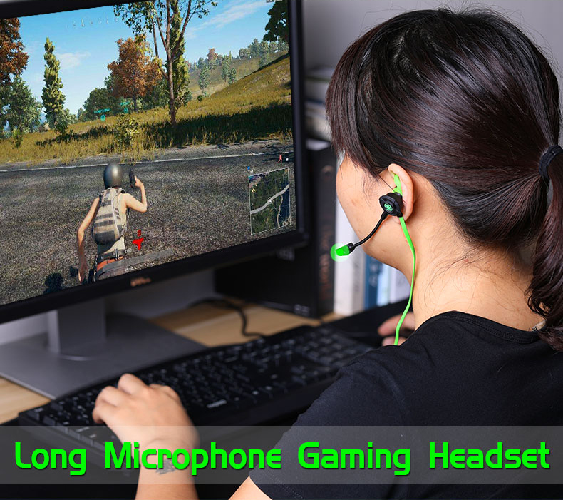 G30 Wired Gaming Earphone with Adjustable Mic for Cellphone PS4 PC Computer Gamer Headset with Portable Earphone Bag By Plextone