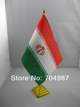Iran table desk flag banner free shipping(China)