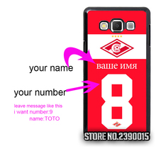 Custom Jersey spartak DE CHILE Cover Case for Samsung Galaxy S3 S4 S5 mini S6 S7 edge plus active Note 2 3 4 5 7 Silicon