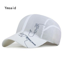 YMSAID Summer Men Brand Quick Drying Mesh Baseball Cap Absorbent Net Cap Women Camping Breathable Snapbacks