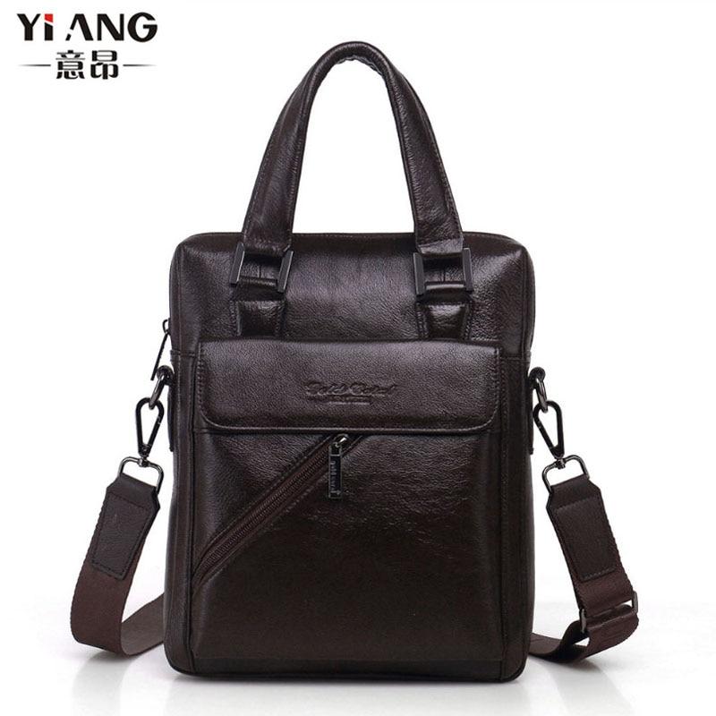 Men Fashion Genuine leather First layer Cowhide High Quality Business Handbag Messenger Single Shoulder Bag Handbags<br>