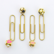 TUTU 10PCS/LOT Gold  Bell Paper Clips Pin Metal Clip Bookmarks Storage Office Accessories Cute Bow Paper clips H0108