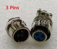 Free shipping 12mm fast connector M12 3pins aviation plug and aviation socket cable joint 2set/lot