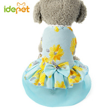 Elegant Summer Dog Dresses Bowknot Tulle Dress outfit for Dogs Pet Clothing Puppy Skirt dog clothes 40(China)