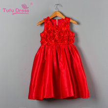Flower Children's Princess Dresses 2018 New Girls Dress for Wedding Party Kids Bridesmaid Clothes for 2 3 4 5 6 7 Years Girls(China)