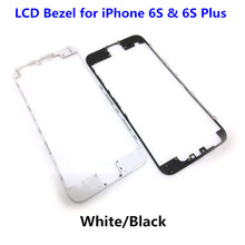 20pcs/lot NEW Front LCD Middle Frame Bezel With Hot Glue for iPhone 6S & 6S Plus 5.5'' Cell Phone Repair Parts White/Black