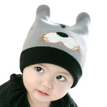 Fashion Cute Baby Girls Boy Toddler Winter Warm Knitted Crochet Hat Tiger Pattern Cap Kids Caps New