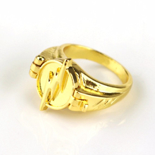 Gold Rings Women Men Super Hero Flash Ring Can Open Cover Lightning Logo Size US 7-12 Dropshipping Anel Masculino Anillos(China)