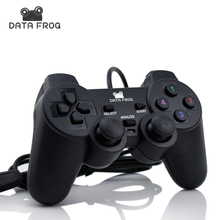 Vibration Joystick Wired USB PC Controller For PC Computer Laptop  For WinXP/Win7/Win8/Win10 For Vista Black Gamepad