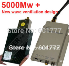 made in Taiwan 5000Mw+ New cctv transmitter 1.2G Wireless transceiver,1.2G Video Audio Transmitter Receiver CCTV FPV transmitter
