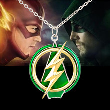 2016New The Flash And Arrow Pendant Necklace XL635