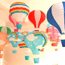 "12''30cm/16""40cm Rainbow Hot Air Balloon Paper Lantern Kids Birthday Party Wedding Decoration 22 Colours for choose 1pc(China)"
