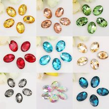 5-50pcs lot Multiple Colors Oval Faceted Sewing Flatback Rhinestones  Acrylic Craft For DIY Craft Home Decoration Supplies 5d450701eb7c