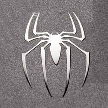 4 Pcs Hot Spiderman Reactor Metal Stickers 3D Spider Metal Sticker Phone Stickers Car Computer Mobile Cell Phone Sticker