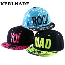 discount hot wholesale boy girl kid fashion hip hop snapback hat embroidery character style active novelty children baseball cap(China)