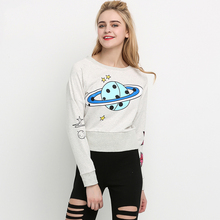 Long Sleeve Casual Hoodies Pullover Planet Sweatshirt Oversized Hoodie Cute Winter Packers Jersey Zanzea Autumn Clothing 60T0030(China)