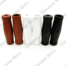 "Vintage Cafe Racer Motorcycle Hand Grips Rubber Handle Bar 7/8"" 22mm for CG125 CB400 HONDA KAWASAKI Made in TAIWAN Free Shipping(China)"