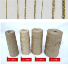 Pick 1mm 2mm 3mm 4mm 5mm 6mm Diameter natural Hemp Cords linen Jute Cord Thread for gift package weaved Crafts handcraft EH48