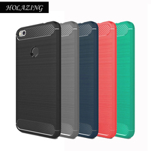"HOLAZING Glossy Rugged Full Body Armor Case for Xiaomi Redmi 4X 5.0"" Anti-Shock Absorption Luxury Carbon Fiber Design Cover"