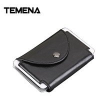 Buy Temena Men Credit Card Holder Fashion PU Leather Metal Card Holder RFID Card Case Automatic Money Cash Clip Mini Wallet ACH219 for $8.30 in AliExpress store