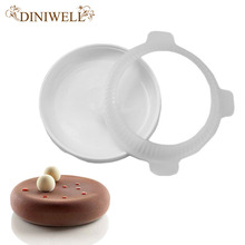 DINIWELL Bakeware Baking Pastry Mould Big Disc Design Silicone Mold For Dessert Custard Pudding Brownie Breads Pie Mousse Cake