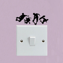 Skateboard Man Vinyl Switch Decal Door Home Room Wall Sticker 5WS0778(China)