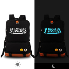 High Quality Anime Vampire DIABOLIK LOVERS Luminous Printing Canvas Backpack Rucksack School Bags for Teenagers Women Bag(China)