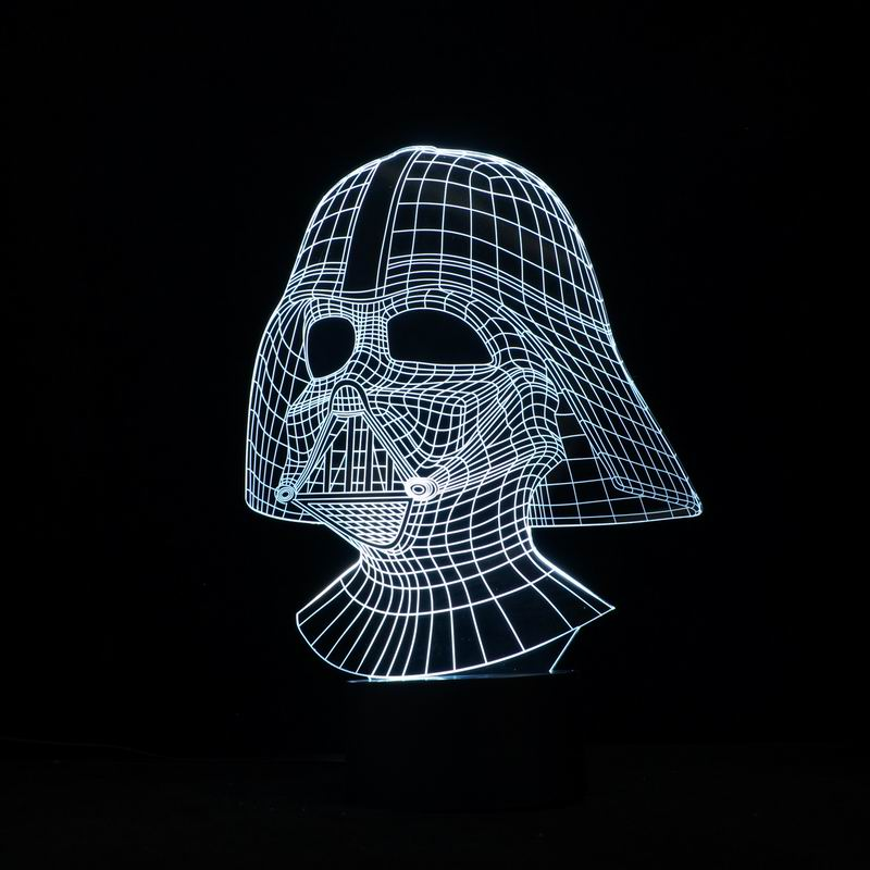 Cool and Handsome Star Wars Darth Vader  Shape  3D Illusion L night light as Home Decoration.<br><br>Aliexpress