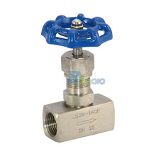"MEGAIRON 1/2"" DN15 Thread J13W 160P SS304 High Pressure Needle Valve Female to Female Cut-off Valves Stainless Steel 304"