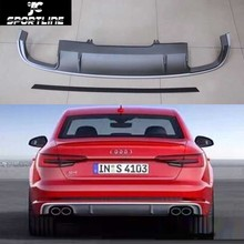 A4 S4 Car-Styling PP Auto Rear Diffuser Lip Spoiler for Audi A4 Sedan Standard Bumper Only 2017