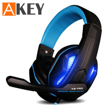 Over-ear Headphones LED Light Gaming Headset with Mic Noise Canceling Headphone Earphone for Smartphone Table PC X2-PRO