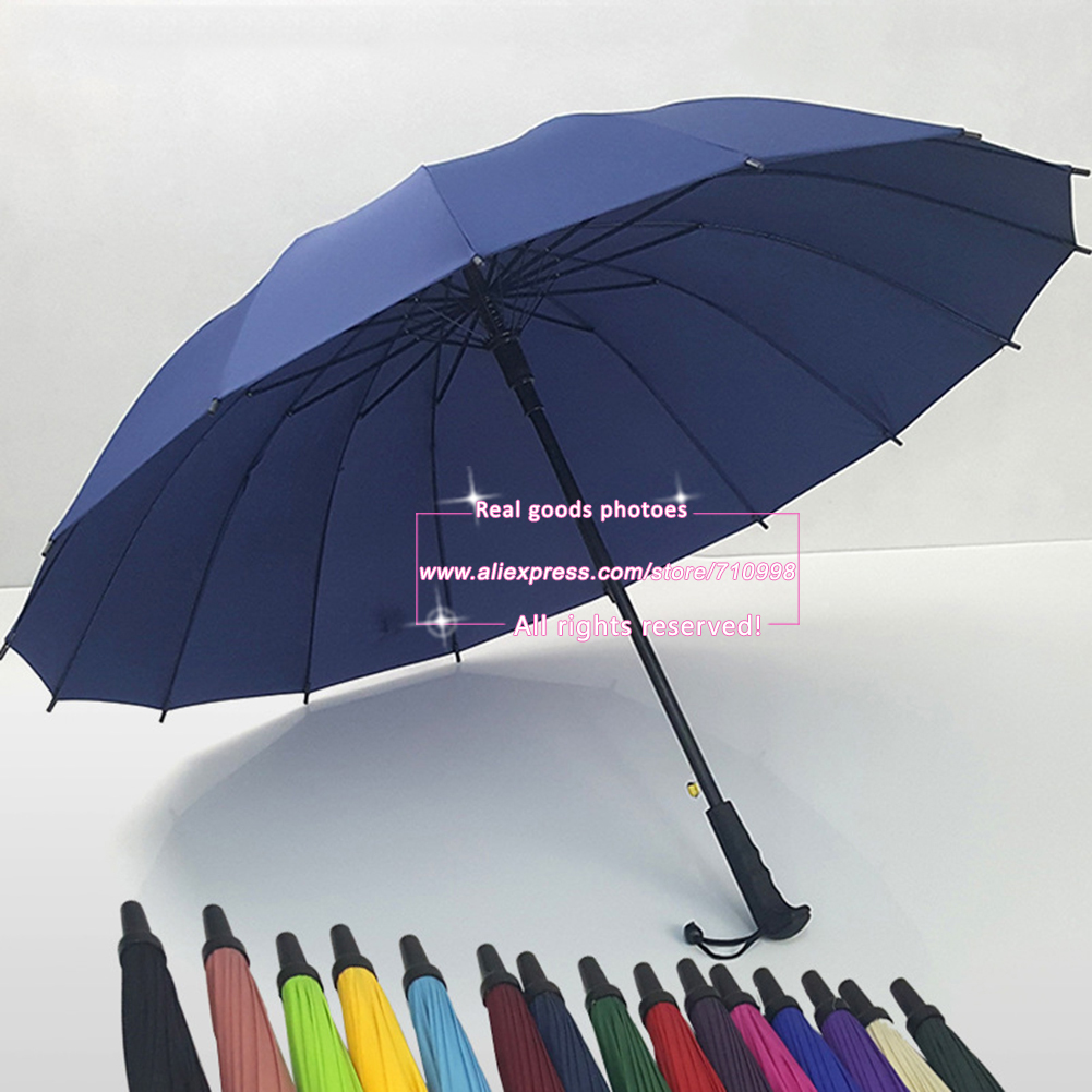 Golf Umbrella Automatic Open Extra Large Windproof With Big Wind Release Vents Rain Repellant Protection Black(China (Mainland))