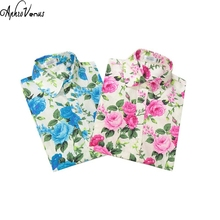 Hot Sale Women Floral Print Blusa Cotton Shirt Women Tops 2017 Newest Women Blusa Classic Long Sleeve Femal Clothes Casual(China)