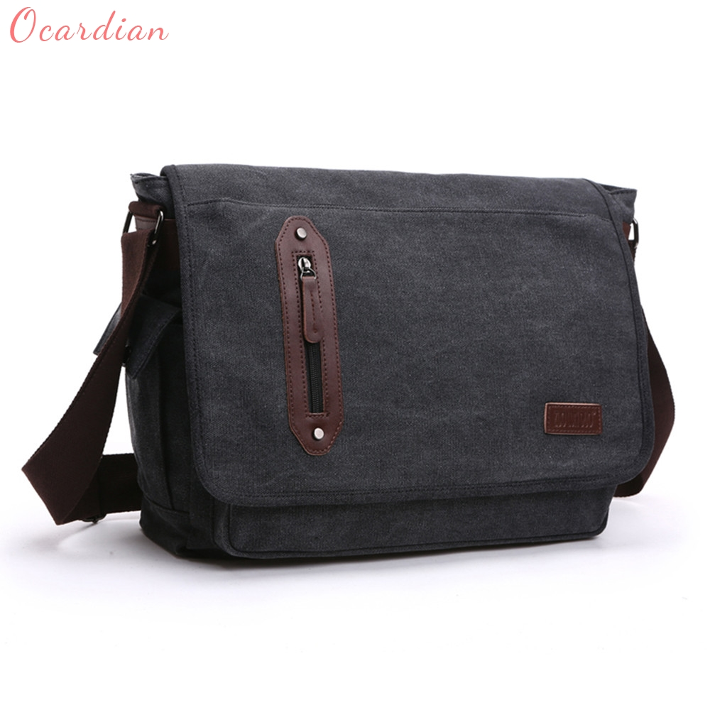 Ocardian High Quality Fashion Men Canvas Bags 4 Colors Men Must Having Dropship 170816<br>