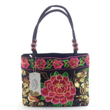 Vintage National Ethnic embroidery bags Chinese style Embroidered shoulder bag lady Travel Shopping handbag Sac Femme Bolsos