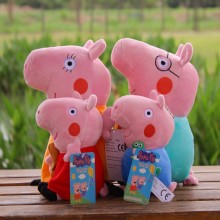 4PCS /SET Pepa Pig Plush Toy Figures Pink Pig Family 30cm Daddy Mummy 19cm George Pig Plush Stuffed Toys Children Gift Baby Doll