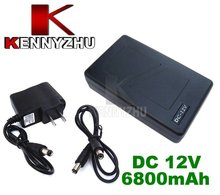 Portable Super Capacity Rechargeable Lithium-ion Battery Pack DC 12V 6800mAh for CCTV Cam Monitor Free Shipping