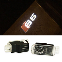 2X Car Projection Light LED Door Welcome Ghost Shadow Light Logo for AUDI A3 A4 A5 A6 A7 A8 R8 Q5 Q7 TT A1